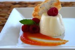 Panna Cotta with Papaya Coulis