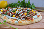 Larb Flatbreads with Chobani Cream Sauce