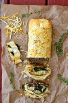 Cheddar Bacon and Kale Strudel