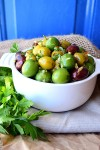 Olive Oil and Orange Marinated Olives