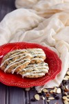 White Chocolate Drizzled Spice & Currant Cookies (Gluten Free)