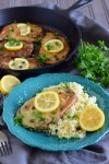 Gluten Free Pork Piccata & Cauliflower Rice