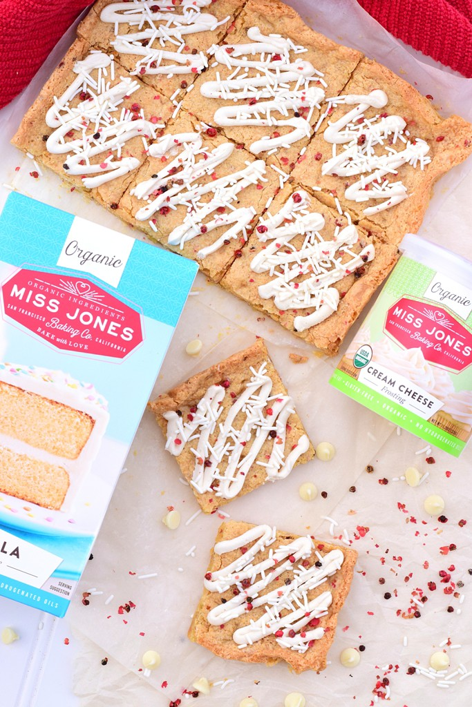 Pink Peppercorn Blondies